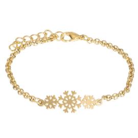 iXXXi armband Snowflake ; goudkleurig