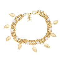 Armband dazzling leaves, goud