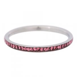 Ring zirkonia pink, silver