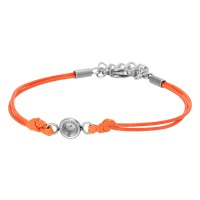 iXXXi Armband wax cord top part base, orange