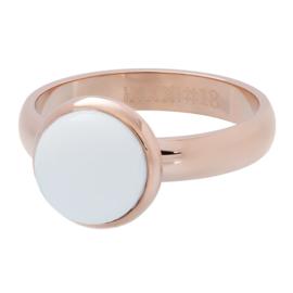 Ring 1 White stone ; rosé-goldcolor