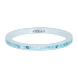 iXXXi ring, Ceramic blue paradise