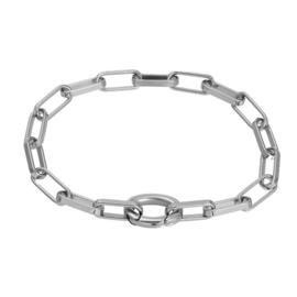 Armband Square Chain ; zilverkleurig