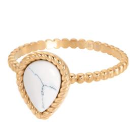 Ring Magic White ; goudkleurig