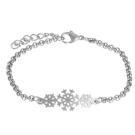 iXXXi armband Snowflake ; zilverkleurig
