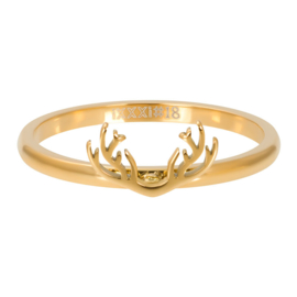 Ring Symbol Antlers, goudkleurig