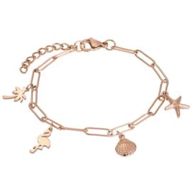iXXXi Armband met Charms ; Rosé-goudkleur