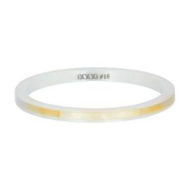 iXXXi ring, Ceramic yellow shell