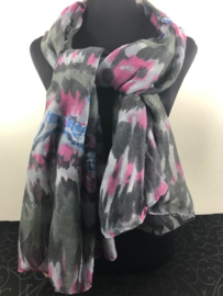 Sjaal ; matt zwart
