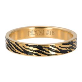 Ring Zebra ; goudkleurig