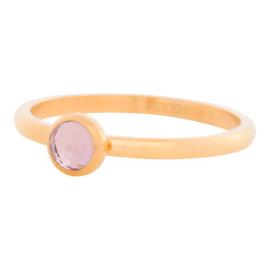 Ring Zirkonia pink, gold