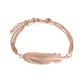 Armband Feather ; roségoudkleurig
