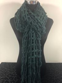 Winter sjaal ; Petrol