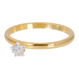 iXXXi Ring Star Crystal Stone, goud