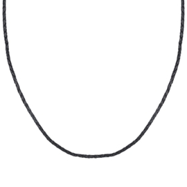 iXXXi 3mm leder collier 80 cm, zwart