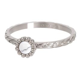 Ring Inspired White ; zilverkleurig