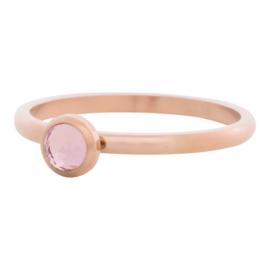 Ring Zirkonia pink, rose goud