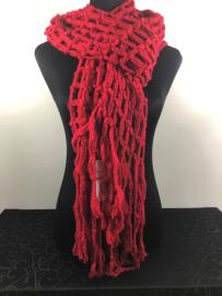 Winter sjaal ; rood