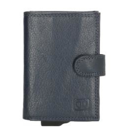 Credit Card Etui ; Double-D ; Blauw ; Anti-Skim