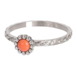 Ring Inspired Coral ; zilverkleurig