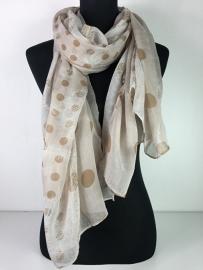 Sjaal beige & creme