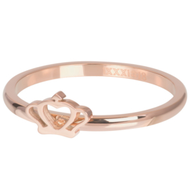Ring Glamour Crown ; rosé-goudkleurig
