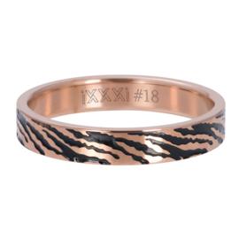 Ring Zebra ; rosé-goudkleurig
