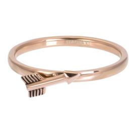 Ring Symbol Arrow ; roségoudkleurig