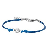 iXXXi Armband wax cord top part base, blue