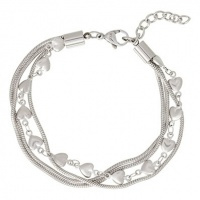 iXXXi Armband Snake and  Heart ; zilverkleur