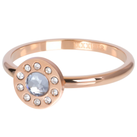 Ring Diamond Circle ; rosé-goudkleurig