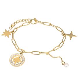 iXXXi armband Sparkle ; goudkleurig