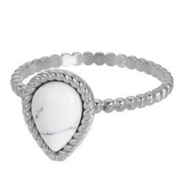 Ring Magic White ; zilverkleurig