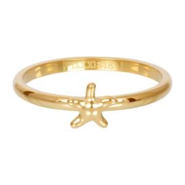 iXXXi ring, symbol sea star goudkleur
