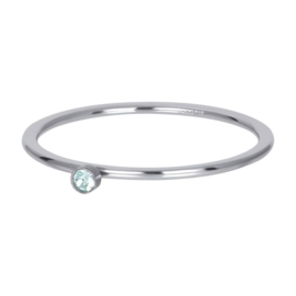 iXXXi ring, light saphire 1 stone zilver