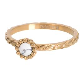 Ring Inspired White ; goudkleurig