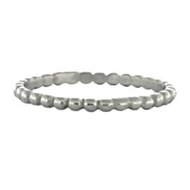 Ring bolletjes silver
