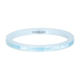 iXXXi ring, Ceramic blue shell