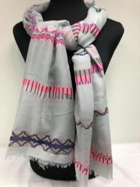 Sjaal ; Stripe Grey