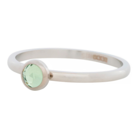 Ring Zirkonia Light Green, zilver