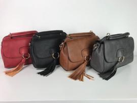 Damestas ; rood - zwart - bruin - grijs