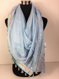 Vierkante sjaal, licht blauw
