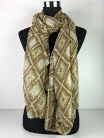 Sjaal verschillende kleuren bruin ...
