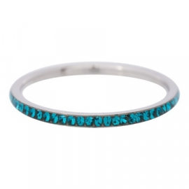 Ring zirkonia turquoise, silver XS