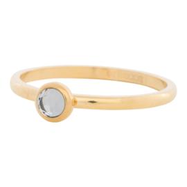 Ring Zirkonia White, goud
