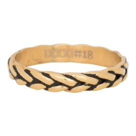 Ring Wheat Knot, goud