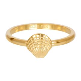 iXXXi ring, symbol sea shell goudkleur