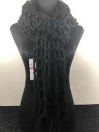 Winter sjaal ; Zwart