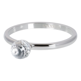 iXXXi Ring Crystal Glass Ball, zilver