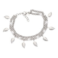 Armband dazzling leaves, zilver